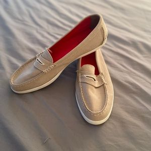 Ladies Cole Haan canvas loafers
